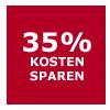 35 Prozent sparen